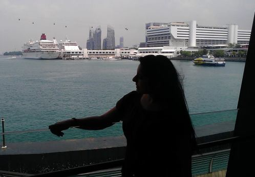 Relaxing at Singapore